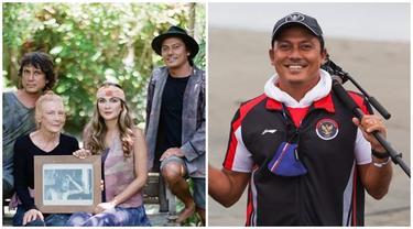 6 Potret Tipi Jabrik, Kakak Luna Maya yang Jadi Pelatih Selancar di Olimpiade Tokyo