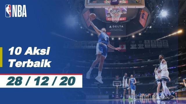 Berita video, slam dunk Kevin Durant masuk kedalam 10 aksi terbaik NBA  (28/12/2020)
