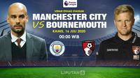 Banner prediksi Manchester City vs Bournemouth di Liga Inggris. (Triyasni)