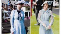 Penampilan Maia Estianty dan Kate Middleton saat menghadiri Royal Ascot. (dok. Instagram @maiaestiantyreal/https://www.instagram.com/p/BzpLfAEnd0X/Putu Elmira)