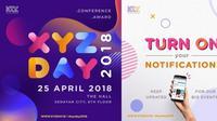 Sampai ketemu di acara XYZ Day 25 April 2018 mendatang ya, KLovers! © KapanLagi.com