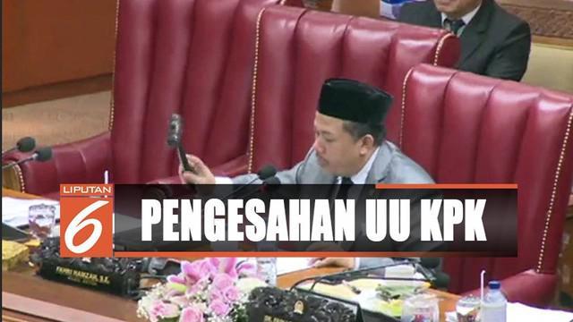 UU KPK disahkan, Menkumham Yasonna Loly menyatakan bahwa revisi ini adalah bentuk perbaikan terhadap undang-undang negara.