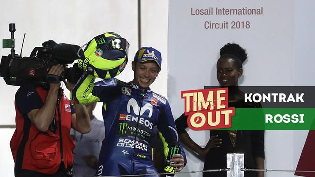 Berita video Time Out kali ini soal kejanggalan kontrak baru Valentino Rossi di tim Movistar Yamaha.
