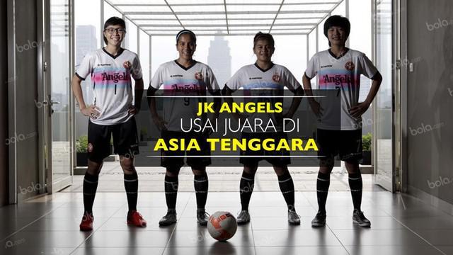 Video wawancara 4 pemain tim futsal putri Jaya Kencana Angels soal yang terjadi usai menyandang status juara di Asia Tenggara