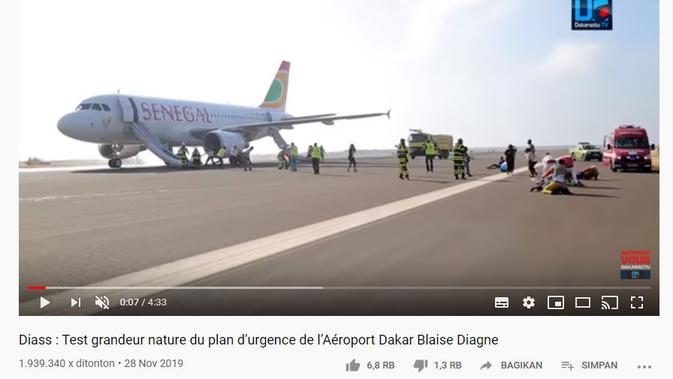 Gambar Tangkapan Layar Video Pelatihan di Bandara Senegal