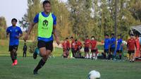 Penyerang Timnas Indonesia U-19, Saddam Emiruddin, menilai gaya permainan Qatar mirip dengan Arab Saudi, lawan yang pernah dihadapi di International U-19 Friendly Tournament. (dok. PSSI)