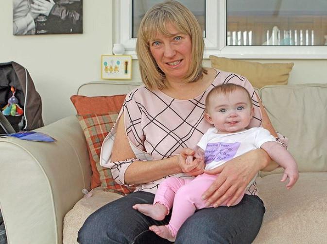 Evie, yang lahir prematur kini berusia 7 bulan dan tumbuh dengan baik. (Foto: Daily Post Wales)