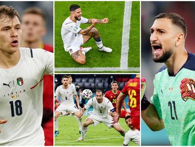 Timnas Italia berhasil menggenggam satu tiket semi final Euro 2020 (Euro 2021) setelah membungkam Belgia dengan skor 2-1. Berikut 6 pemain Gli Azzuri yang tampil dengan performa luar biasa tadi malam.