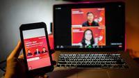 Konferensi pers virtual mengenai pengumuman pemenang dari Digihackaction yang digelar Telkomsel. (Foto Ist.)