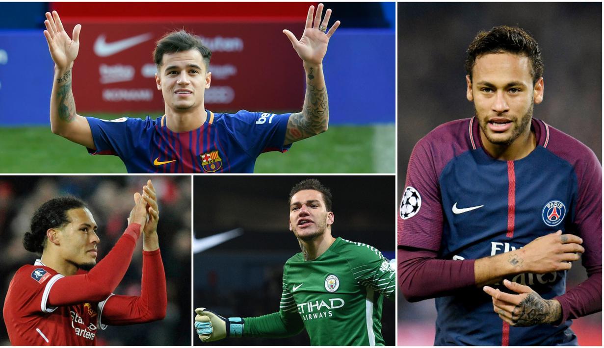FOTO Formasi Best XI Pemain Termahal Dunia Dunia Bola
