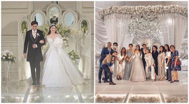 6 Momen Artis Hadiri Resepsi Pernikahan Caesar Hito dan Felicya Angelista,