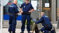 Insiden penusukan terjadi di area Puutori-Market Square di Kota Turku, Finlandia, Jumat sore 18 Agustus 2017 (AFP)