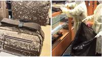 Barang-barang branded berjamur di mal ini akhirnya dibuang. (Sumber: Facebook/Nex Nezeum/MetrojayaMY)