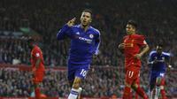 Hazard jadi pembeda di laga Liverpool vs Chelsea.