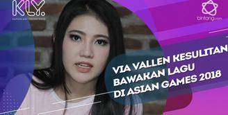 Sulit, Via Vallen mengaku kesusahan bawakan lagu Theme Song Asian Games 2018 yang berjudul Happy