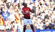 Penyerang Manchester United (MU) Anthony Martial merayakan gol ke gawang Chelsea pada lanjutan Liga Inggris di Stamford Bridge, Sabtu (20/10/2018). (AFP/Glyn Kirk)