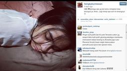 Belum lama ini, Hengky Kurniawan memposting foto Sonya yang terlihat sedang tertidur dengan caption yang mesra. (instagram.com/hengkykurniawan)