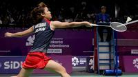 Tim bulutangkis putri Jepang meraih medali emas Asian Games 2018 setelah mengalahkan (INASGOC/Hadi Abdullah)