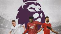 Premier League - Kevin De Bruyne, Marcus Rashford, Mohamed Salah (Bola.com/Adreanus Titus)