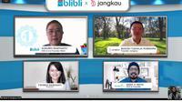 Blibli membantu penyaluran donasi di platform non-profit Jangkau (Liputan6.com/Agustin Setyo W)