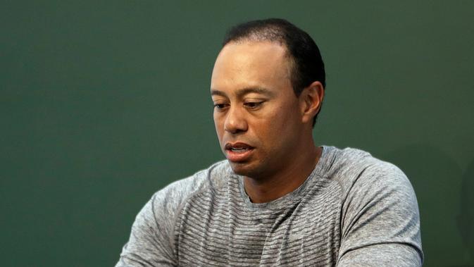 Pegolf legendaris Tiger Woods ditangkap polisi di Jupiter, Florida, Amerika Serikat, Senin (29/5/2017) waktu setempat. (AP/Seth Wenig, File)