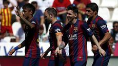 Barcelona memetik kemenangan meyakinkan di jornada ke-35 La Liga Spanyol. Melawat ke markas Cordoba di Estadio Nuevo Arcangel, Sabtu (2/5/2015) malam WIB, Barca menang besar 8-0.