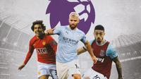 Premier League - Carlos Tevez, Sergio Aguero, Manuel Lanzini (Bola.com/Adreanus Titus)