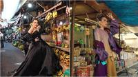 Melaney Ricardo pemotretan di Pasar Glodok (Sumber: YouTube/RIOMOTRET)