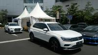 Audi dan VW sediakan deretan mobil andalannya untuk dicoba konsumen (Arief/Liputan6.com)