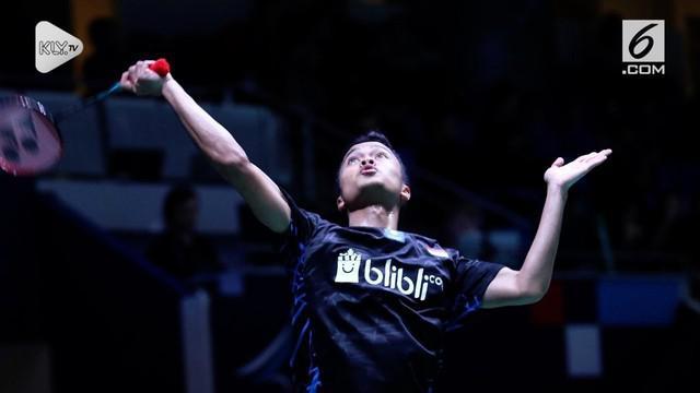 Anthony Ginting tampil gemilang di Fuzhou China Open. Dia sukses melangkah ke perempat final usai mengalahkan rekan senegara asal Indonesia, Jonatan Christie, Kamis (8/11/2018).