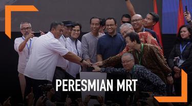 Presiden Jokowi meresmikan pengoperasian MRT Jakarta. Dalam peresmian ini Jokowi berpesan agar pengguna MRT menjaga kebersihan dan tertib dalam menggunakan MRT.
