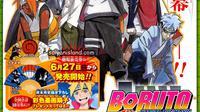 Pencipta asli manga Naruto, Masashi Kishimoto menggambar sendiri ilustrasi baru Boruto: Naruto the Movie.
