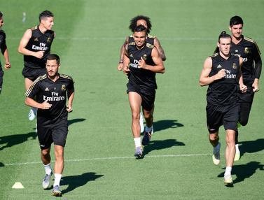 Latihan Santai Pemain Real Madrid Jelang Hadapi Liga