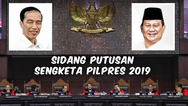 Kesimpulan sidang putusan sengketa Pilpres 2019 telah usai dibacakan oleh Hakim Mahkamah Konstitusi pada Kamis 27 Juni 2019.