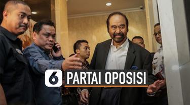 Ketua Umum Partai Nasdem, Surya Paloh temui pimpinan Partai PKS (30/10/19). Tujuan pertemuan itu disebut untuk selamatkan demokrasi Indonesia.