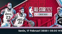 Team LeBron versus Team Giannis di NBA All-Star 2020 (Vidio.com)