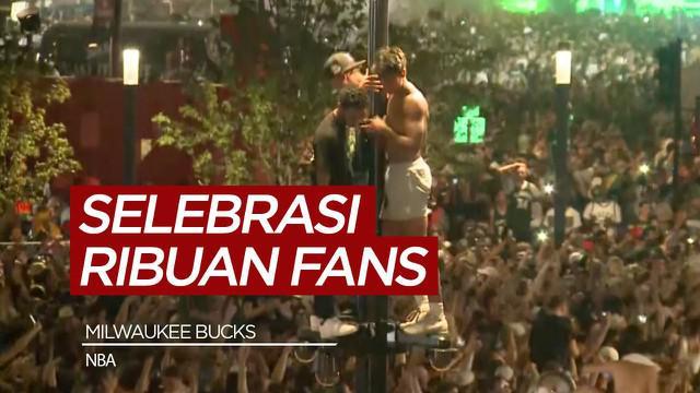 Berita video selebrasi fans Milwaukee Bucks di Deer District usai Bucks jadi juara NBA 2021.