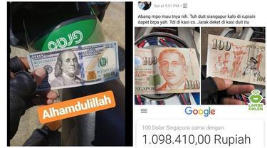 7 Potret Driver Ojol saat Dibayar Pakai Mata Uang Asing, Bikin Netizen Iri