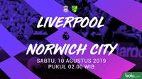 Premier League - Liverpool Vs Norwich City (Bola.com/Adreanus Titus)