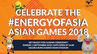 Penutupan Asian Games 2018. (INASGOC)