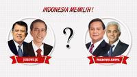 Jokowi-JK dan Prabowo Hatta (Liputan6.com/Andri Wiranuari)