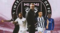 Inter Miami - Blaise Matuidi, Gonzalo Higuain, David Beckham, Kieran Gibbs, Ryan Shawcross (Bola.com/Adreanus Titus)