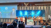 Susi Pudjiastuti melakukan serah terima jabatan (sertijab) Menteri Kelautan dan Perikanan kepada Edhy Prabowo. (Liputan6.com/Bawono Yadika Tulus)