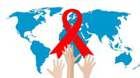 Pita merah, simbol kesadaran Aids yang diakui secara internasional. (dok. Pixabay.com/mohamed_hassan)