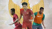 Timnas Indonesia - Rachmat Irianto, Firza Andika, Andy Setyo (Bola.com/Adreanus Titus)