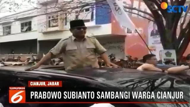 Selain itu, Prabowo juga mengajak semua pendukungnya untuk tidak takut dengan adanya ancaman dan intimidasi dari pihak-pihak yang sengaja agar suasana piplres menjadi tidak damai.