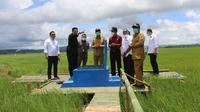 Menteri Pertanian (Mentan) Syahrul Yasin Limpo meninjau areal zona 4 food estate Desa Makatakeri, Senin, 15 Februari 2021.