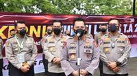 Kapolri Jenderal Listyo Sigit Prabowo dan Kakorlantas Polri Irjen Pol Istiono (kanan). (Ist)
