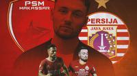 Ilustrasi - Marc Klok PSM Makassar dan Persija Jakarta (Bola.com/Adreanus Titus)