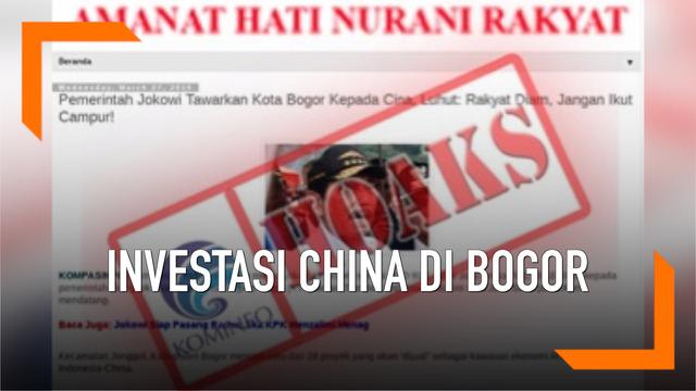 Hoaks Ilustrasi Investasi China
